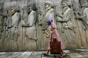 L'entrée d'un temple du feu parsi à Bombay